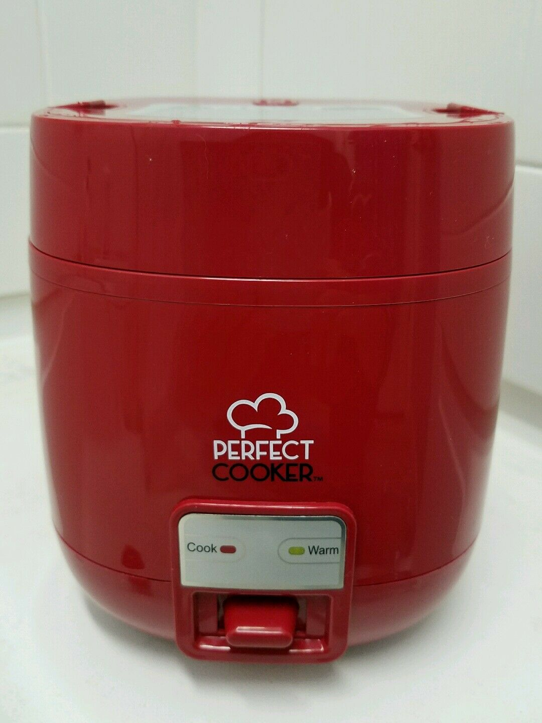 Rice Cooker 3 Cup Red Mini Pot Keep Warm Non Stick