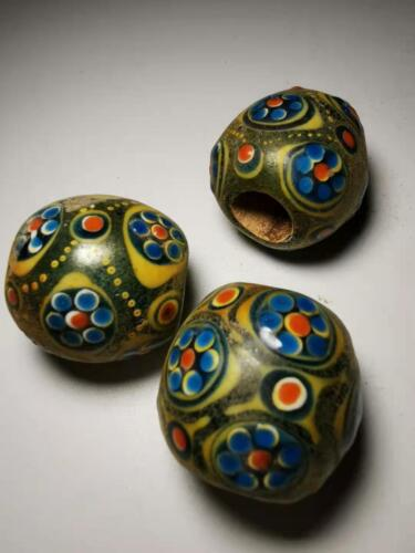 Chinese Translucent Glass beads azure stone colored glaze pendant beads 81#
