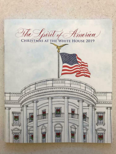 2019 White House Christmas Holidays Tour Book Program Donald Melania Trump POTUS