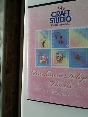 Parchment Delights Florals Volume 6 my craft studio professional CD ROM