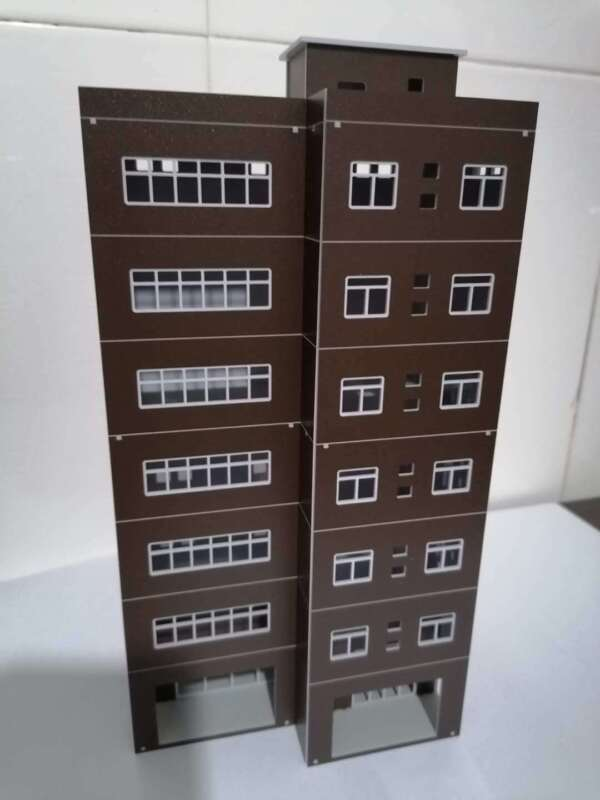 DIY Train Railway Modern Tall Business Building Office HO OO Scale Models