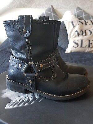 GEOX Kinder Stiefel gr. 31 Frühjahr Boots schwarz Biker