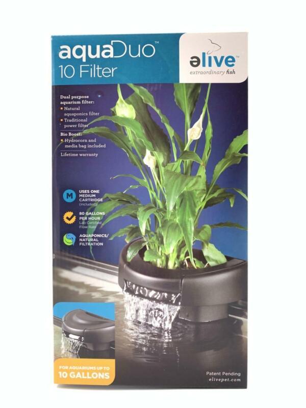 Elive AquaDuo 10 Gallon Aquarium Filter Fish Tank Aquaponics Power Hydrocorn