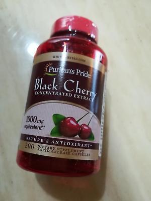 200 Capsules  Puritans Pride Black Cherry Extract 1000Mg Antioxidant Usa