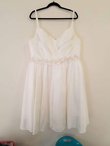 White and beaded dress