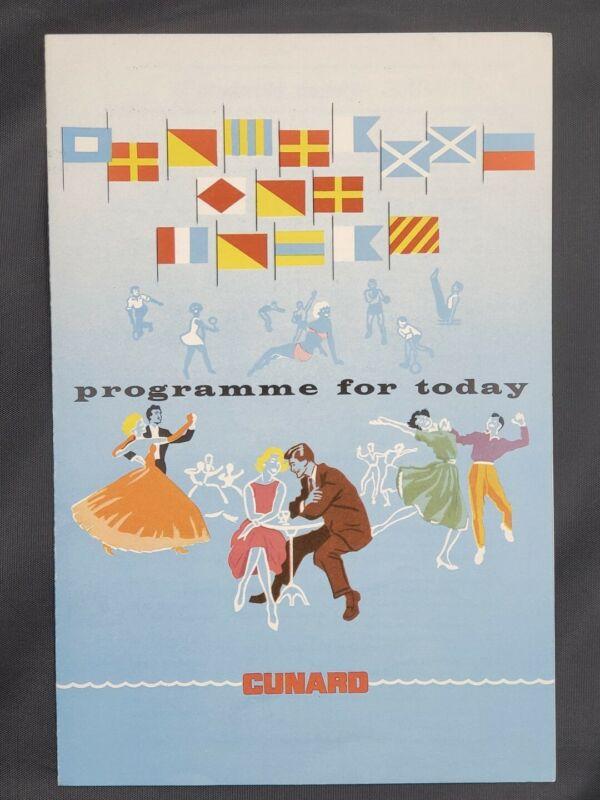 Final Transatlantic Voyage Queen Elizabeth Cunard Programme - October 30, 1968