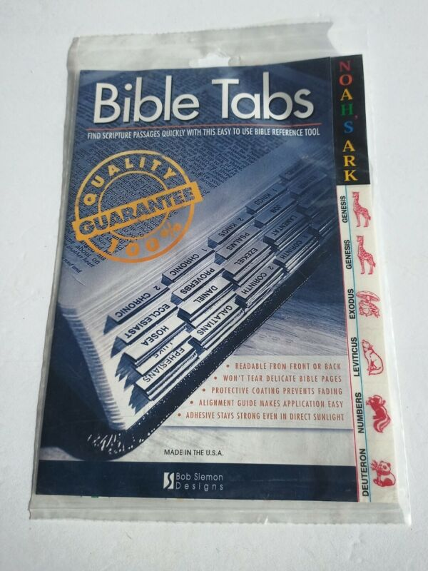 New Bible Tabs With Special Noahs Ark Animal Old & New Testament Color Tabs
