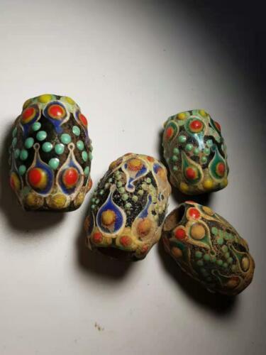 Chinese Translucent  Glass beads azure stone colored glaze pendant beads 2#