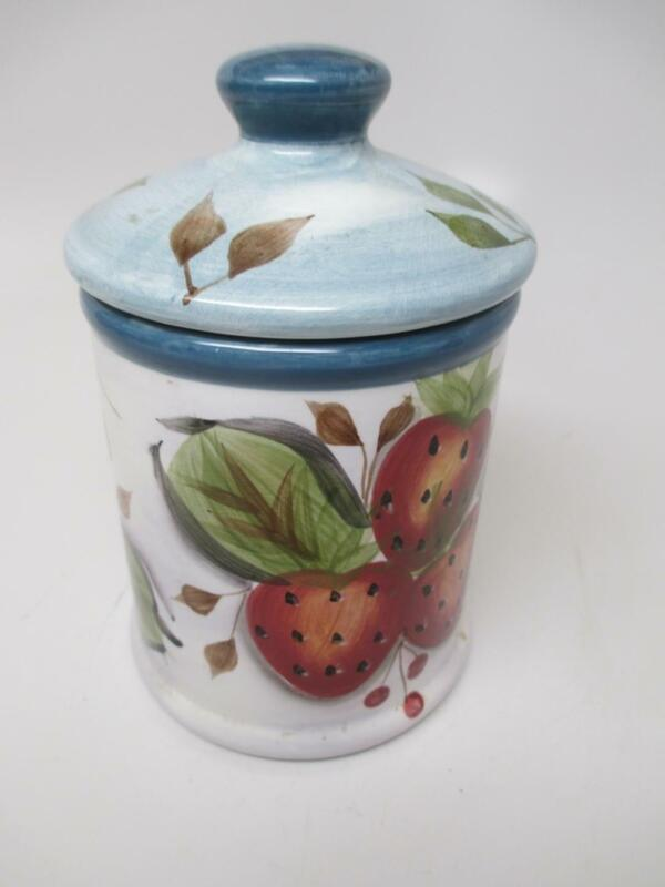 """Black Forest Fruits 5-3/4"""" Ceramic Pottery REPLACEMENT CANISTER Jar SMALLEST"""