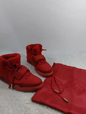 size 40 c96ff 9b26b NIKE AIR YEEZY 2 RED OCTOBER US 8 KANYE WEST 508214-660