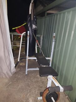 Boxing bag and gym equipment