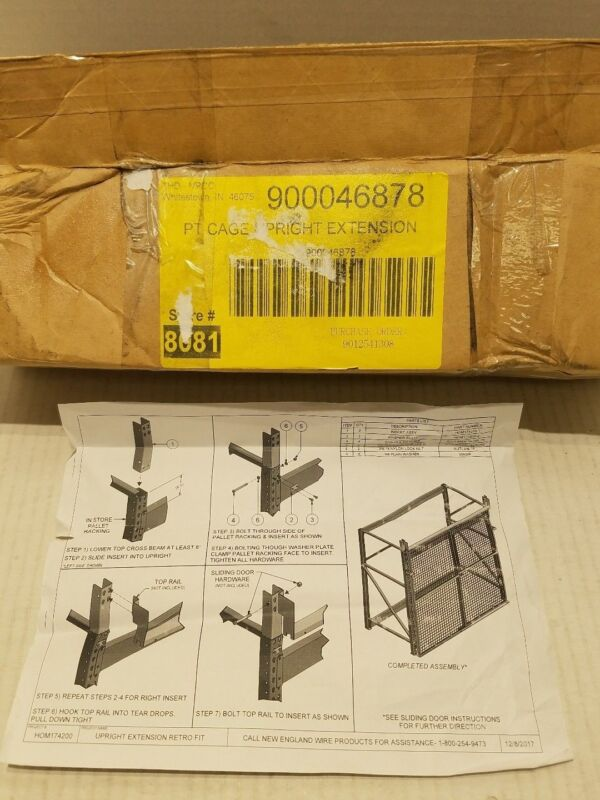 New England Wire Product PT Cage Upright Extension Retro Fit 900046878