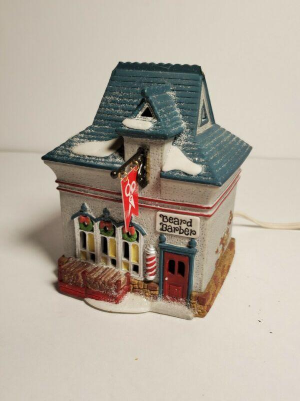 Christmas Village Dept 56 Heritage North Pole Beard Barber Shop 1994