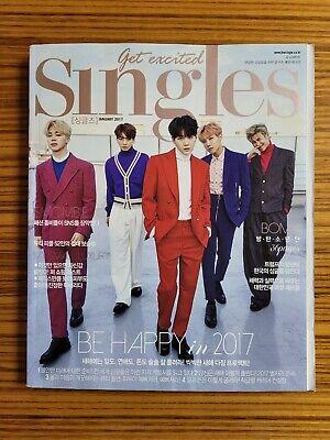 BTS Singles korea Magazine January 2017 Bangtan Boys 36p RARE K-POP
