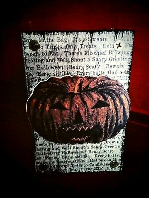 Halloween Wood Blocks (Halloween Wood Blocks (5) Decor Vintage Pumpkin Bats Skeleton Spiderweb)