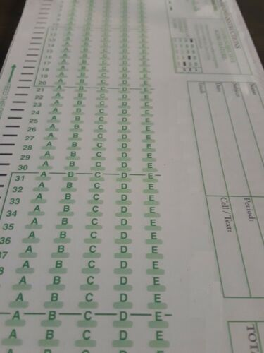 Scantron 882 E Lovas Compatible Testing Forms (Choice 50 100 500 Pack)