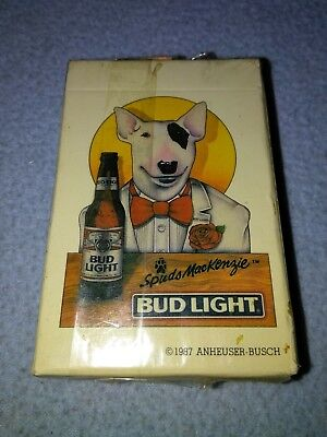 BUD LIGHT BEER SPUDS MACKENZIE PLAYING CARDS  COMPLETE brand New sealed RARE