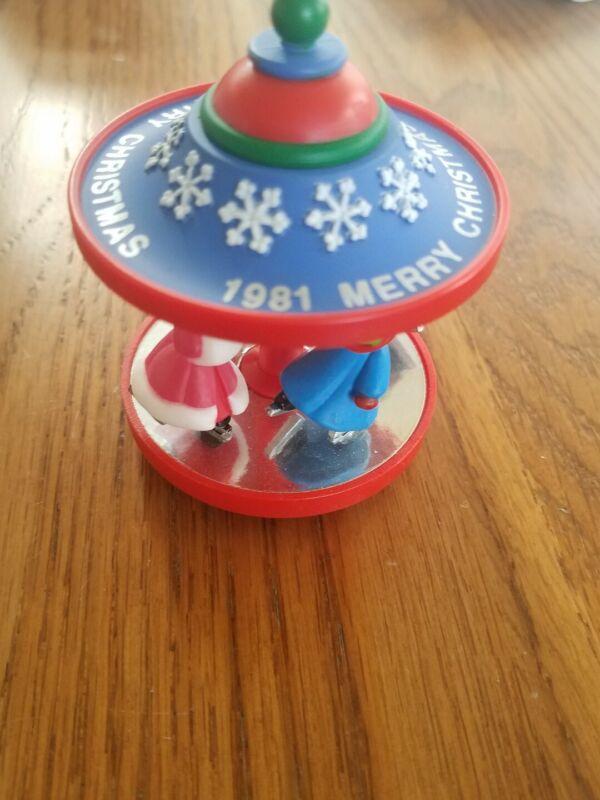 Merry Christmas 1981 Christmas Tree Ornament No box