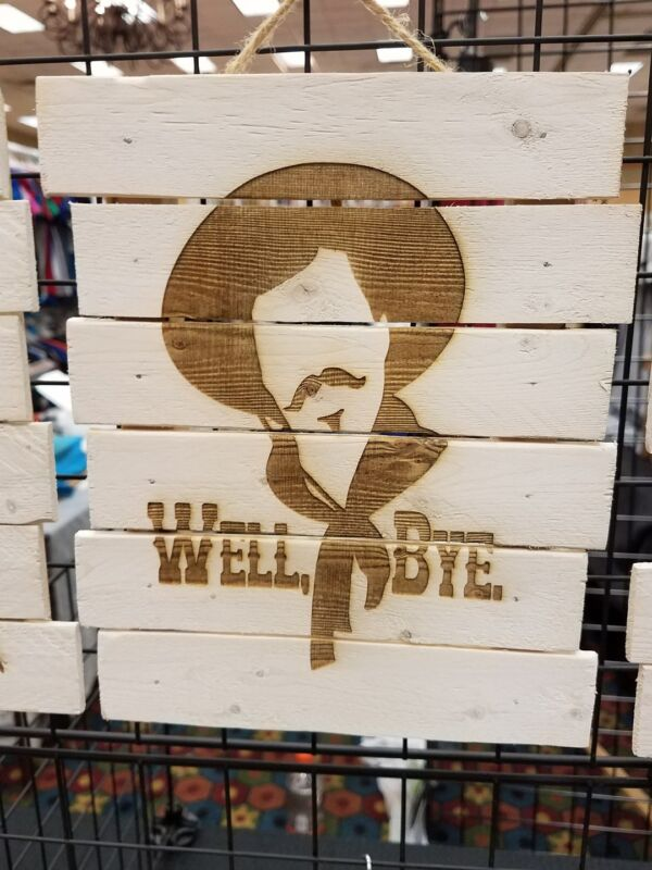 Curly Bill tombstone custom wood sign poster