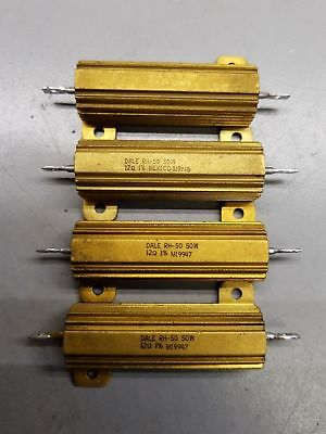 Lot X 4 Vintage Dale Rh-50 - 12 Ohm 12 Resistor 50 Watt -1