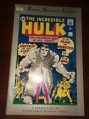 Marvel Milestone Edition: the Incredible hulk #1 Reprints 1st appearance movie