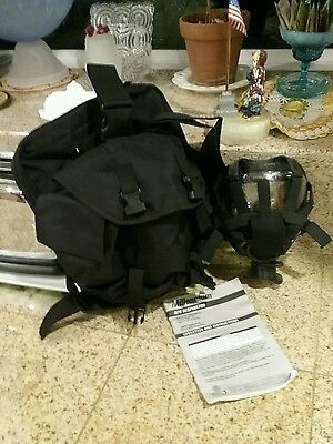 Msa 40mm Wtactical Bag Millennium Cbrn Gas Mask Respirator Medium 10051287