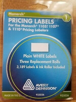 Avery Monarch Model 1105 1107 1110 Pricemarker White Labels Price Stickers