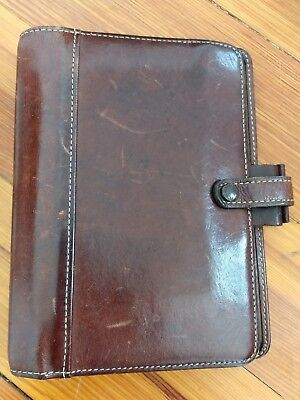 Vintage Filofax Hamilton Leather Daytimer Day Timerplanner 6 Ring Organizer