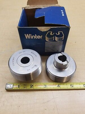 Lot Of 2 Cj Winter Thread Rolls Gage .549 1-11 12 Nptf