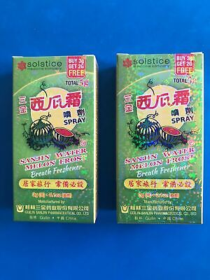 【Pack of 2] SANJIN Watermelon Frost Spray 5g*2 三金牌 西瓜霜喷剂 5克x2盒 US Seller