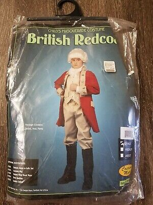 NNN Child Costume Mates British Redcoat Halloween Dress Up Costume Size S
