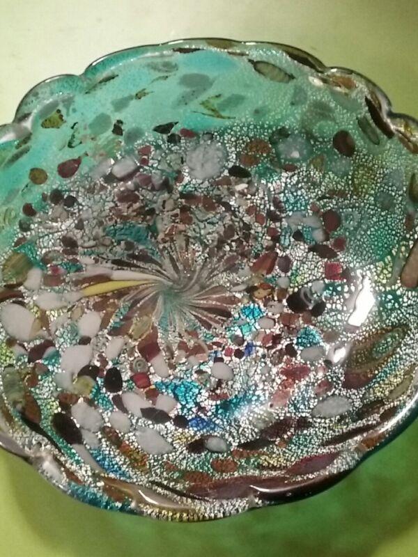 art glass plate beautiful colors