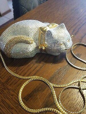 Cat handbag made in hong kong with crystals