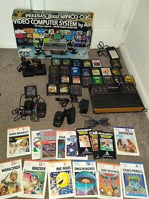 "BOXED ATARI 2600 ""WOODY"" 6 SWITCHER BUNDLE ! PAL ! READY TO PLAY ! TESTED !"