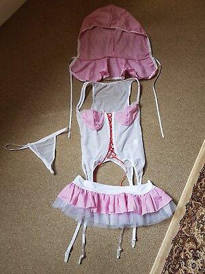 BNWOT Bo Peep/Shepherdess Pink Gingham Fantasy Dress Up - Bo Peep Outfit