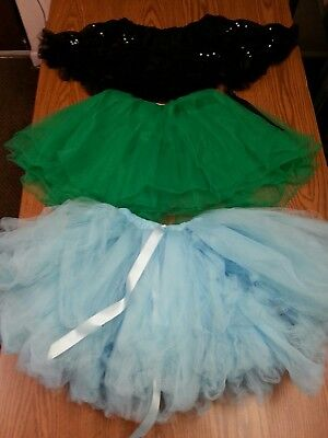 Girls Tutu Starter Kit Costume Play Fantasy Truffle Ruffle Fancy - Lot of 3 - Tutu Kits