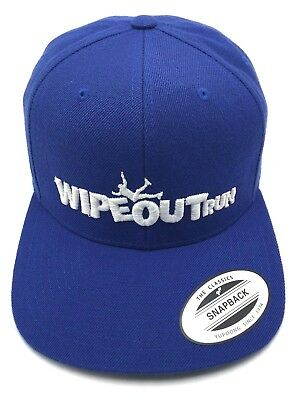 WIPEOUT RUN blue adjustable cap / hat - wool (Running Wool Hat)