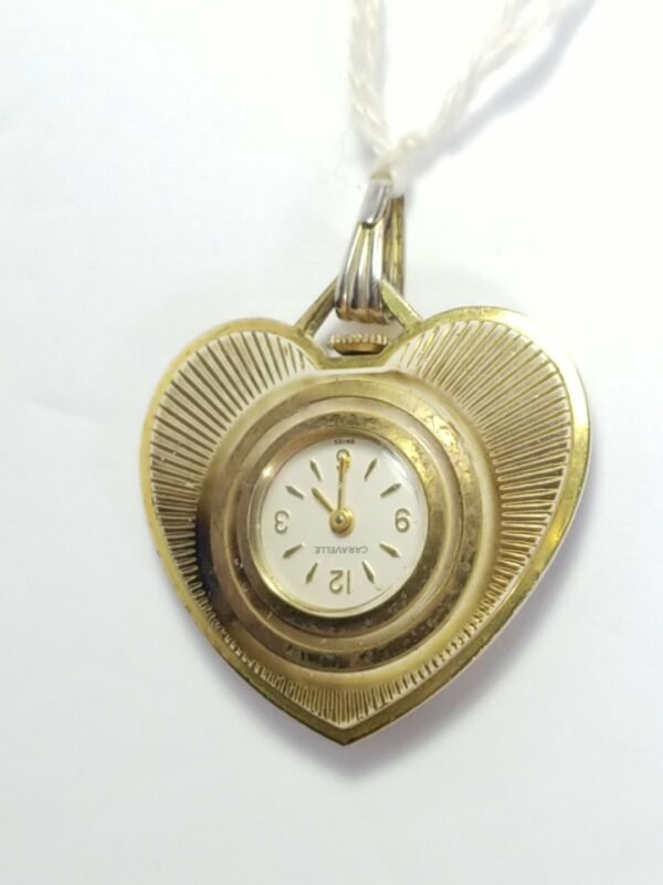 Antique Necklace Pendant Watch Made In Germany Caravelle Swiss 7 Jewels