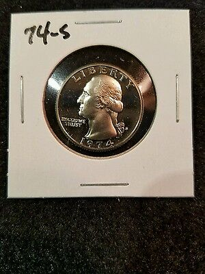 1974-S,,,,,,US PROOF QUARTER,,,,FROM US PROOF SET