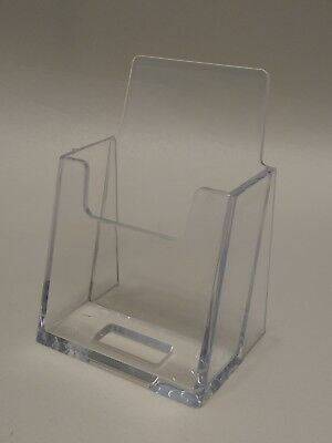 6 Clear New Plastic Vertical Business Card Holder - Free Shipping