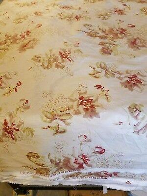 New 2 1/2 Yard of Vintage Ralph Lauren  LFY Floral Fabric Chintz USA -