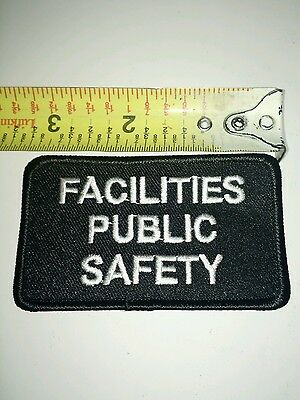 Facilities Public Safety badge police patch stage costume movie prop