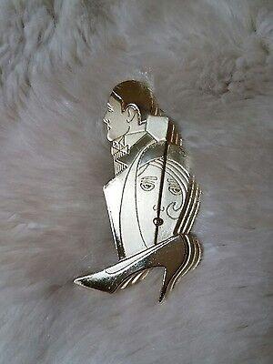 AJC  SIGNED VINTAGE ROARING TWENTIES MAN WOMAN AND HIGH HEEL  BROOCH PIN ](Roaring Twenties Costumes For Men)