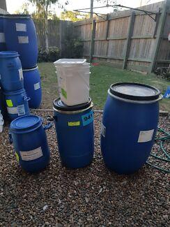 Food grade drums plastic and steel