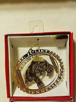 1999 Bears MT. Juliet Tennesee   Brass Christmas Ornament