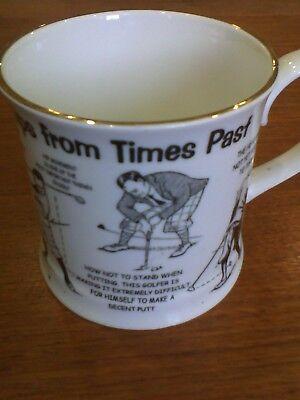 Norfolk china golfing mug. new