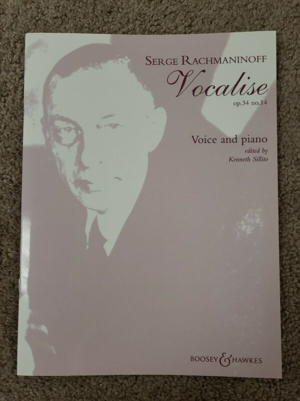 SERGE RACHMANINOFF - Vocalise - Op. 34 No. 14 For Voice & Piano Sheet Music Book