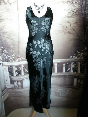NEW Phase Eight Dress 12 Black Beaded Silk Ballgown Evening Gatsby Downton £120