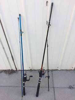 Brand new fishing rod with reel and line on it