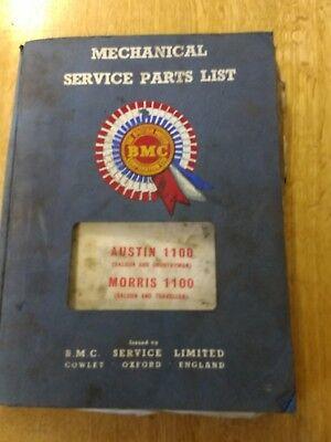 1965 AUSTIN MORRIS 1100 SALOON MECHANICAL SERVICE PARTS LIST ORIGINAL AKD5035
